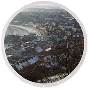 A Winter's Day At Scarborough Round Beach Towel