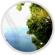 Above The Water Round Beach Towel
