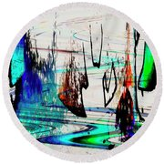 Abstract 1001 Round Beach Towel