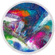 Abstract 10115a Round Beach Towel