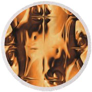 Abstract Breasts By Mb Round Beach Towel