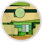 Abstract Cubist Round Beach Towel