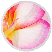 Abstract Rose Petals Round Beach Towel by Teri Virbickis