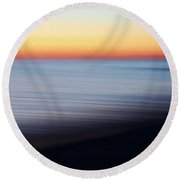 Abstract Sky And Water Round Beach Towel