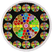 Acrylic Painted Round Colorful Jewel Patterns By Navinjoshi At Fineartamerica.com   Also Available O Round Beach Towel