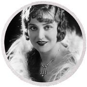 Actress Agnes Ayres Round Beach Towel by Underwood Archives