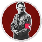 Adolf Hitler Crossed Arms Circa 1936-2015 Round Beach Towel