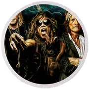 Aerosmith Collection Round Beach Towel by Marvin Blaine