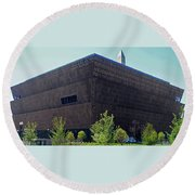 African American Museum 1 Round Beach Towel