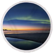 After Sunset II Round Beach Towel