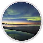 After Sunset Iv Round Beach Towel