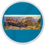 Afternoon-north Rim Round Beach Towel