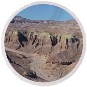 Round Beach Towel featuring the photograph Afton Canyon by Jim Thompson