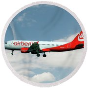 Air Berlin Airbus A320-214 Round Beach Towel