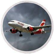 Air Canada Rouge Airbus A319-114 Round Beach Towel