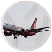 Airberlin Boeing 737 Round Beach Towel