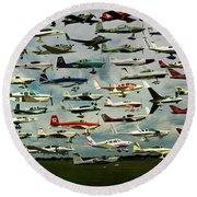 Airventure Cup Air Race, 2017 - Panorama Round Beach Towel