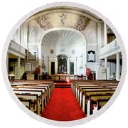 Aisle Of God Round Beach Towel by Greg Fortier