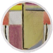 Alexej Von Jawlensky 1864 1941  Small Abstract Head Round Beach Towel