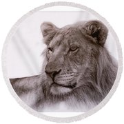 All Grown Up Round Beach Towel