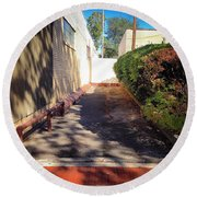 Alley To Nowhere Round Beach Towel