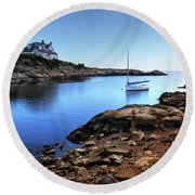 Round Beach Towel featuring the photograph Almost Paradise Newport Ri by Tom Prendergast