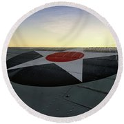 American Morning Round Beach Towel