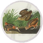 American Woodcock Round Beach Towel