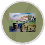 Amish Buggy Ride Round Beach Towel