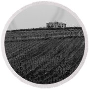 An Italian Farm In Abruzzo Round Beach Towel