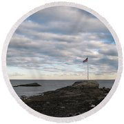 Anchor Beach Round Beach Towel
