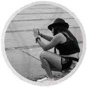 Round Beach Towel featuring the photograph Angle by Beto Machado