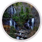 Anna Ruby Falls Round Beach Towel by Barbara Bowen