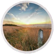 Appalachian Trail Sunrise Round Beach Towel