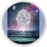 April Birthstone Diamond Round Beach Towel