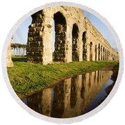 Aqua Claudia Aqueduct Round Beach Towel