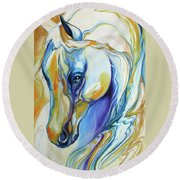 Arabian Abstract Round Beach Towel