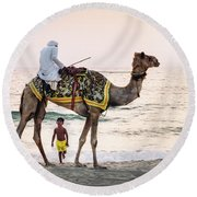 Arabian Nights Round Beach Towel