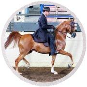 Arabian Show Horse 4 Round Beach Towel