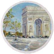 Arc De Triomphe, Paris Round Beach Towel