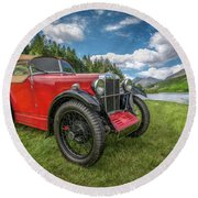 Arriving In Style Round Beach Towel