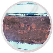 Art Print Abstract 81 Round Beach Towel