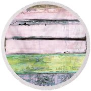 Art Print Sierra 5 Round Beach Towel