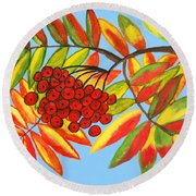 Ashberry, Painting Round Beach Towel