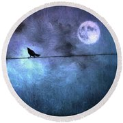 Round Beach Towel featuring the photograph Ask Me For The Moon by Jan Amiss Photography