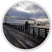 Astoria-megler Bridge 4 Round Beach Towel