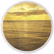 Round Beach Towel featuring the digital art Ocean View by Mark Greenberg