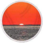Atlantic Sunrise Round Beach Towel
