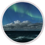 Auroras And Clouds Round Beach Towel
