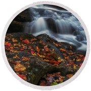 Autumn Cascade Round Beach Towel